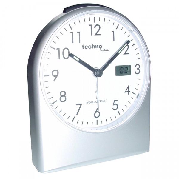 TechnoLine - WT755 - Funkwecker / Wecker / Uhr mit Analoganzeige / Licht / Snooze Funktion