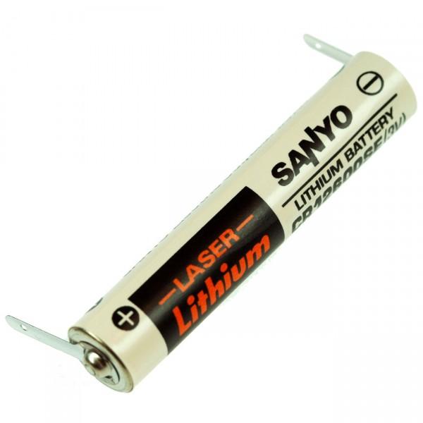 FDK Lithium Batterie CR 12600SE CR 2NP - 3V / 1500mAh - Batterie mit Lötfahne U-Form