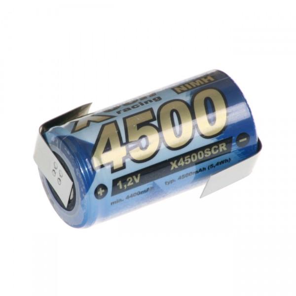 XCell Akku Sub-C 1,2V / 4500mAh SC 450H LF Z-Form Zelle XCell 4500 Sub-C