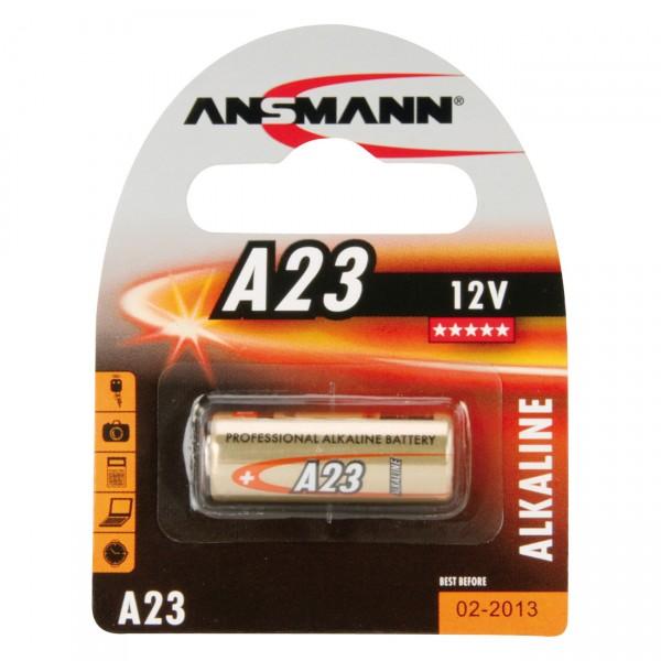 1er Blister Ansmann Alkaline - Batterie A23 - 12V / 41mAh / AlMn - 12 Volt Alkaline Batterien