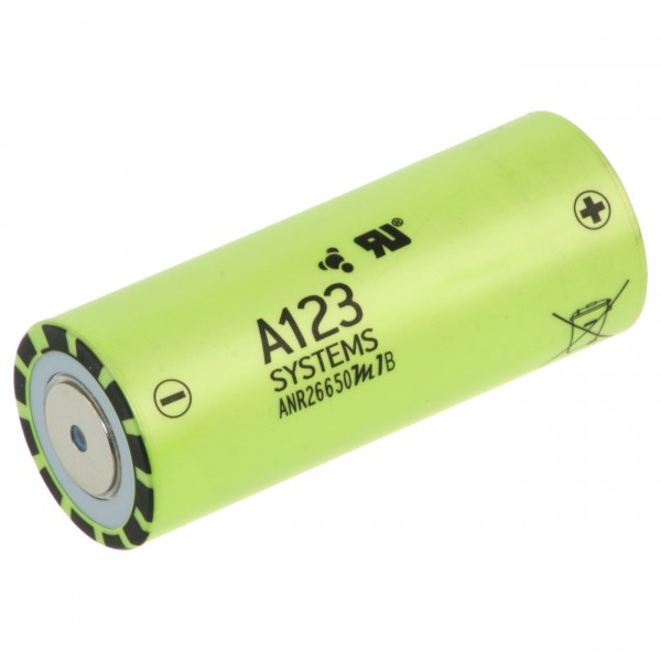 A123 Lithium Akku - 3,3V / 2500mAh - Flattop LiFePO4