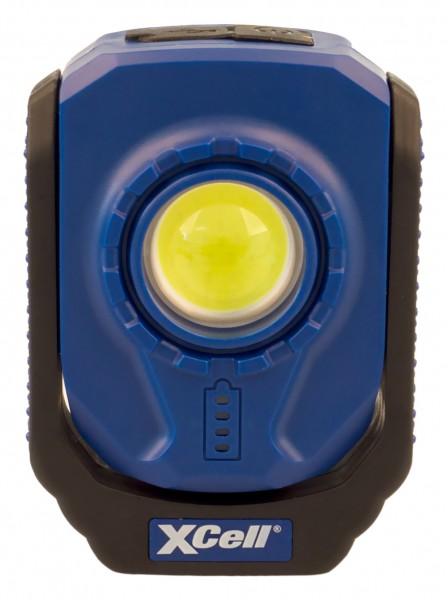 XCell Work Pocket 6W LED-Akku-Leuchte 360° schwenkbar mit Clip, beweglichem Haken Magnet, Micro-USB