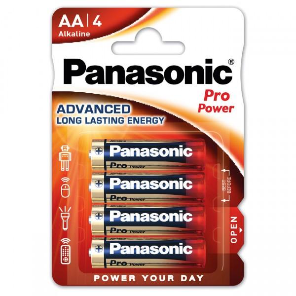 4er Blister - Panasonic Pro Power Batterie - 1,5V Mignon AA LR6 Alkaline