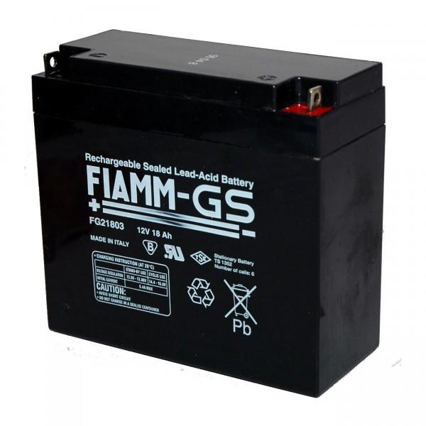 Fiamm Blei-Akku FG21803 - 12V / 18Ah - M5 Schraubanschluss