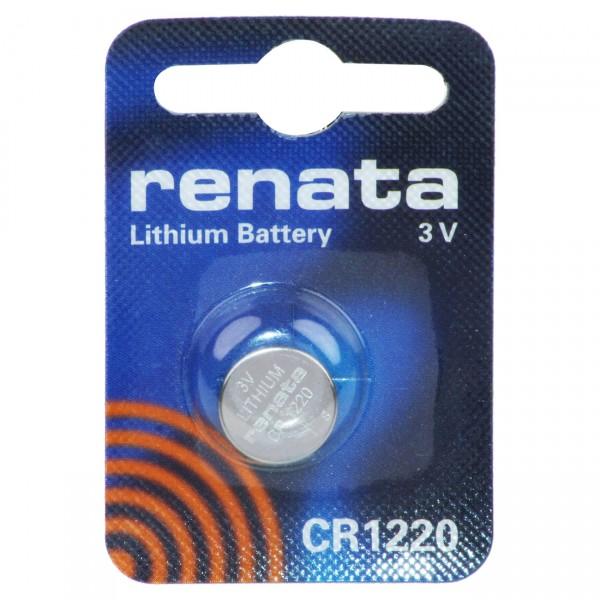 Renata Lithium-Knopfzelle CR1220 Blisterverpackung