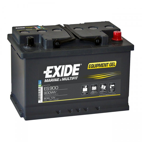 Exide Gel Akku 12V / 80Ah EXIDE Equipment GEL 900 EXIDE GEL G80