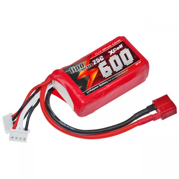 XCell LiPo Cracker 11,1V / 600mAh 3S1P, 35C, T-Buchse EHR/XH/T-Buchse