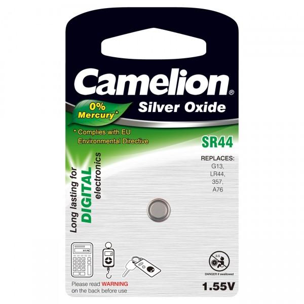 Camelion Uhrenbatterie SR44 / 357 - 1,55 Volt AgO Batterie für Uhr