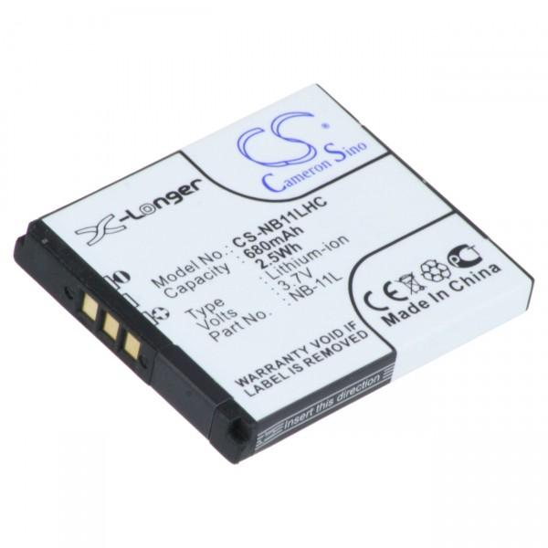 Digicamakku Li-Ion 3,7V / 680mAh für Canon Ixus 240HS / 125HS NB-11L