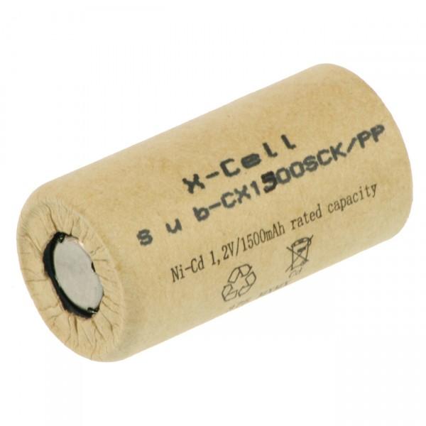 XCell Akku Sub-C - 1,2V / 1500mAh / NICD - 1500SCK Pappmantel