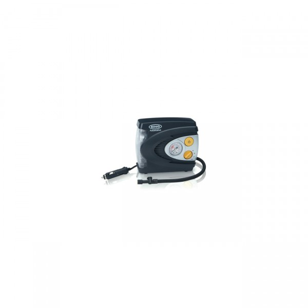 Ring Automotive 12V-Luftkompressor mit Analoganzeige + LED-Licht inkl. 3er-Adapter-Kit