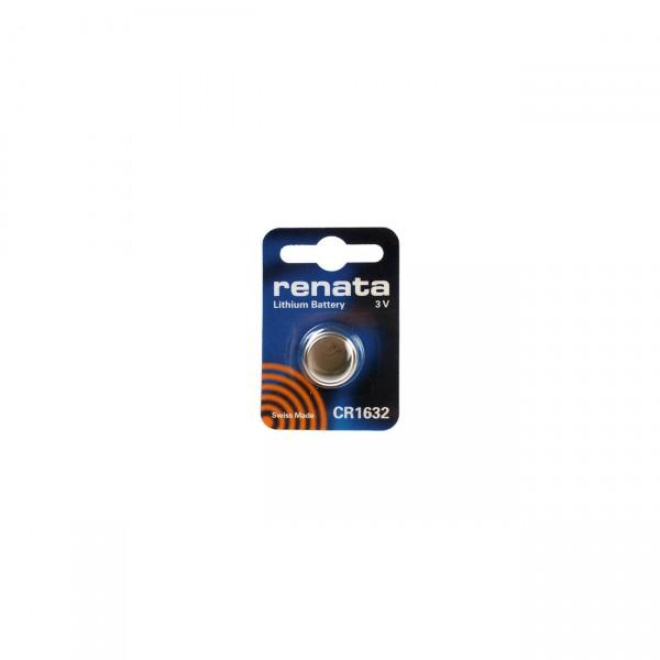 1er Blister Renata Lithium-Knopfzelle CR1632 - 3V / 125mAh - 3 Volt Lithium CR 1632 Batterie