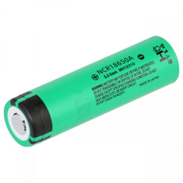 Panasonic NCR18650A Li-Ion Akku - 3,6V / 3100mAh - Lithium 18650 inkl. Premium Akkubox