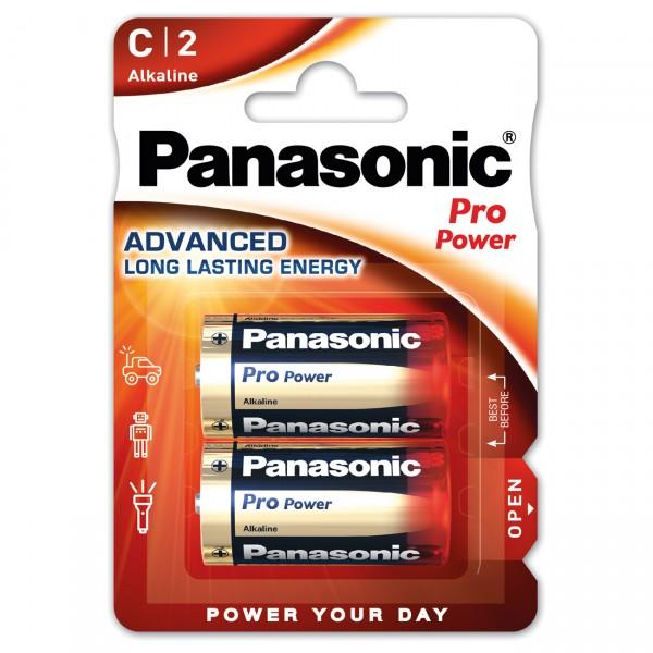 2er Blister - Panasonic Pro Power - Batterie Baby C LR14 - 1,5V Alkaline Batterien