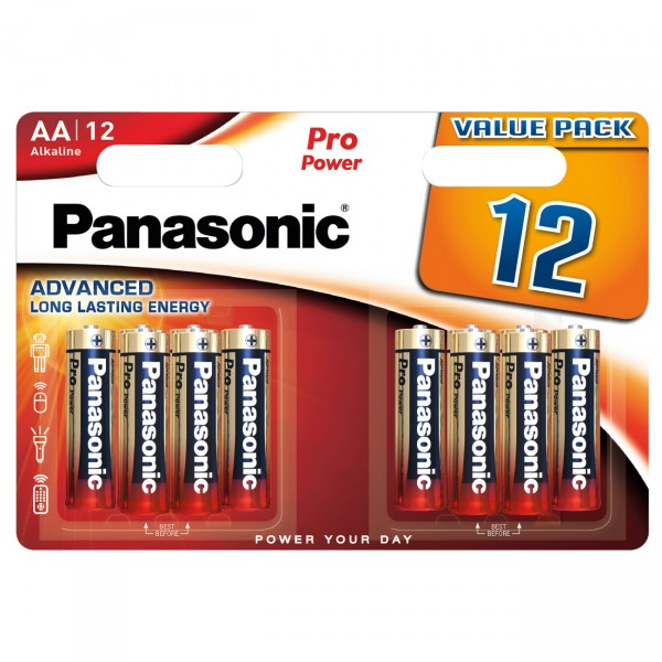 12er Blister Panasonic Pro Power Mignon LR6PPG - 1,5V LR6 Alkaline AA Batterien
