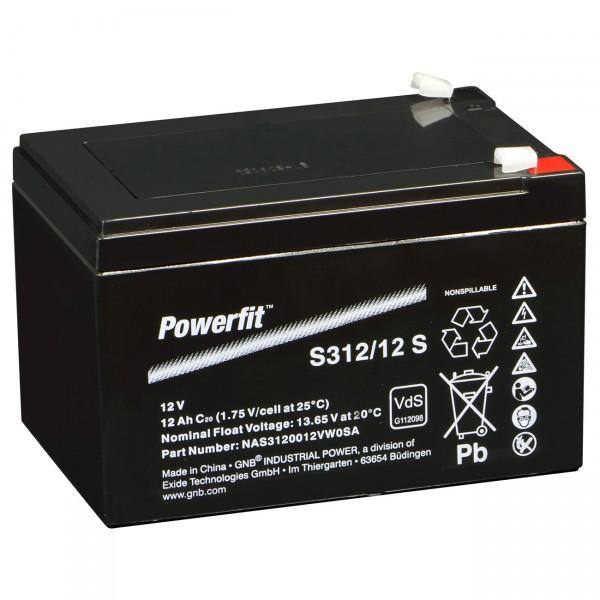 Sonnenschein Powerfit S312/12S Faston 4,8 VdS Zulassung
