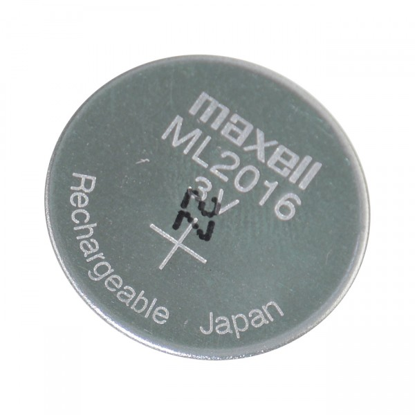 MAXELL Knopfzelle Akku - ML2016 - 3V / 25mAh / Li-Mn - 3 Volt Lithium Mangan wiederaufladbar