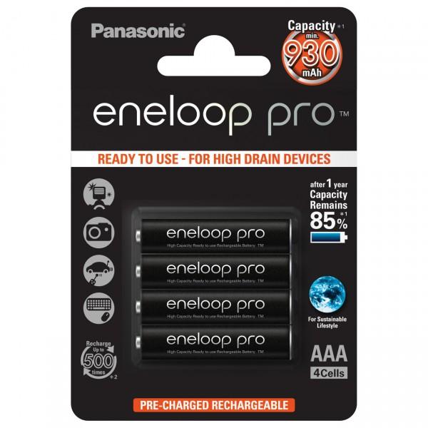4er Blister - Panasonic eneloop PRO XX Micro AAA Akku - 1,2V / 950mAh NIMH