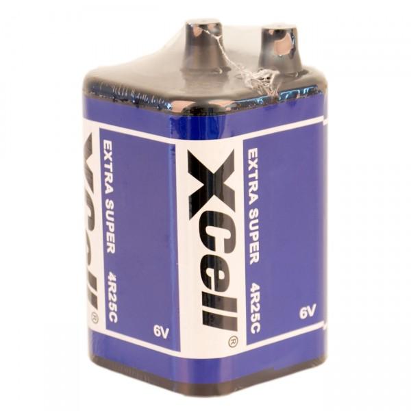 XCell 4R25 6V Block Batterie - 9500mAh - Hochleistungsbatterie für Baustellenleuchte / Warnleuchte /