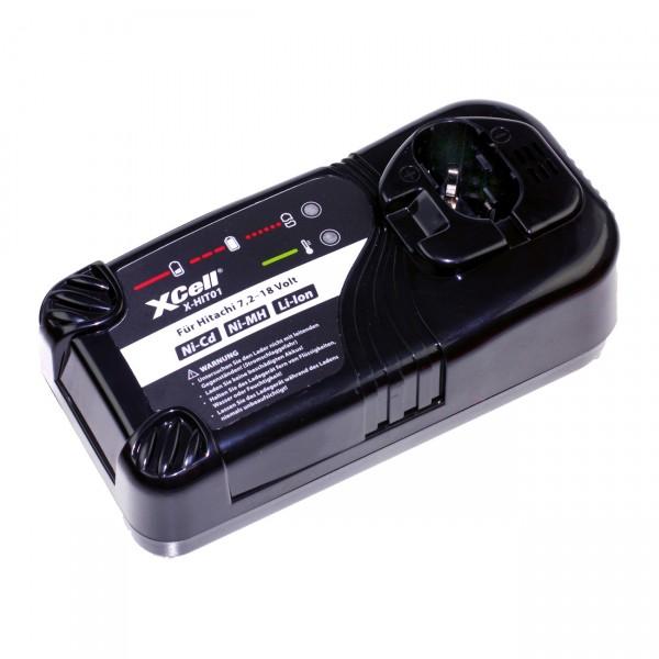 XCell Ladegerät für Hitachi 7,2-18V Ni-Cd/Ni-MH/Li-Ion Werkzeugakkus X-HIT01