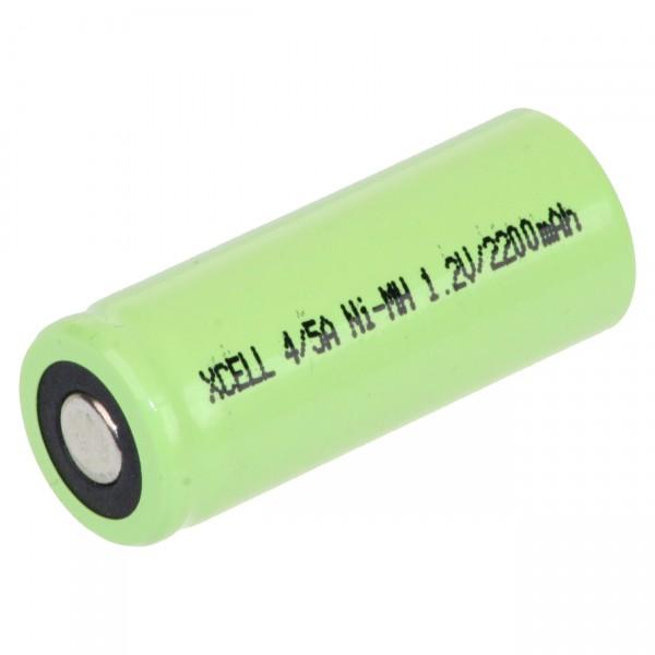 XCell 4/5 A Akku - X4/5A2200 - 1,2V / 2200mAh / NIMH - 1,2 Volt Ni-Mh flattop Hochstromakku