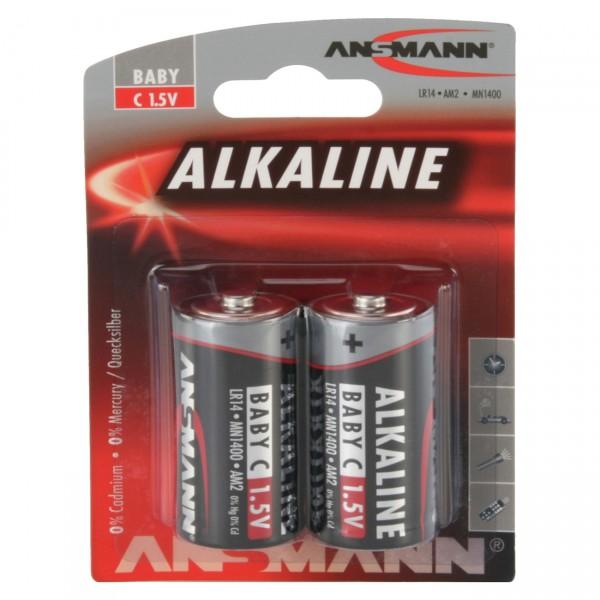 Ansmann LR14 Red Alkaline Baby Batterie 2er Blister