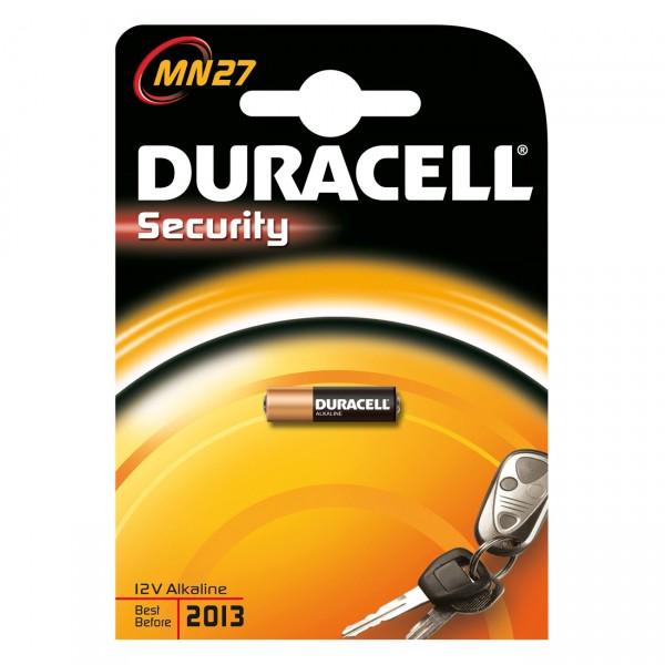 1er Blister Duracell Knopfzelle MN27 Alkaline - 12V / 18mAh - 12 Volt Alkali Batterie