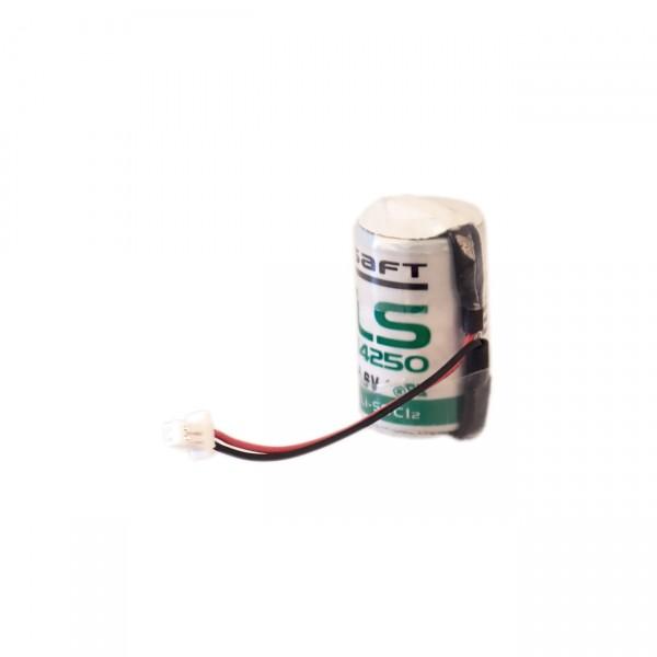 Saft Lithium 3,6V Batterie LS14250 + JST-SHR-2P mittig an der Zelle raus