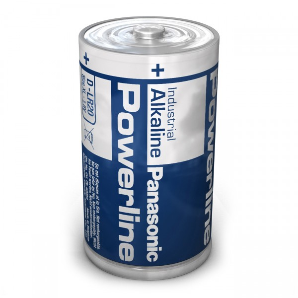 24er Pack Panasonic LR20 Powerline Mono D Batterie - 1,5 V Alkaline Mono-D