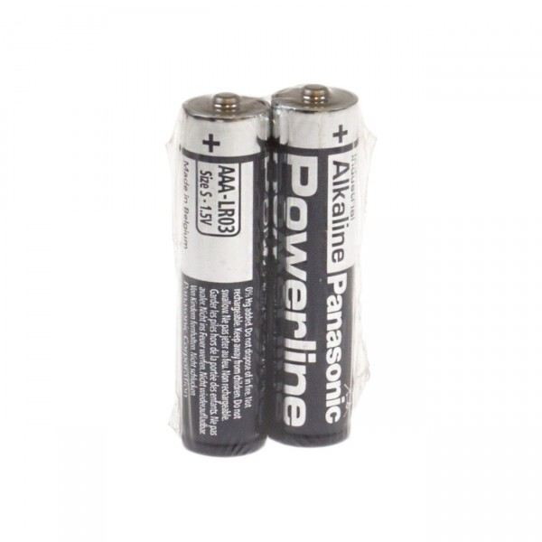 2er Pack Panasonic LR03 Powerline Micro Batterie - 1,5V / 1380mAh - 1,5 Volt AAA