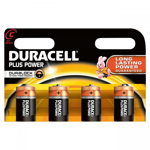 Duracell MN1400 Plus Power Baby Batterie 4er Blister