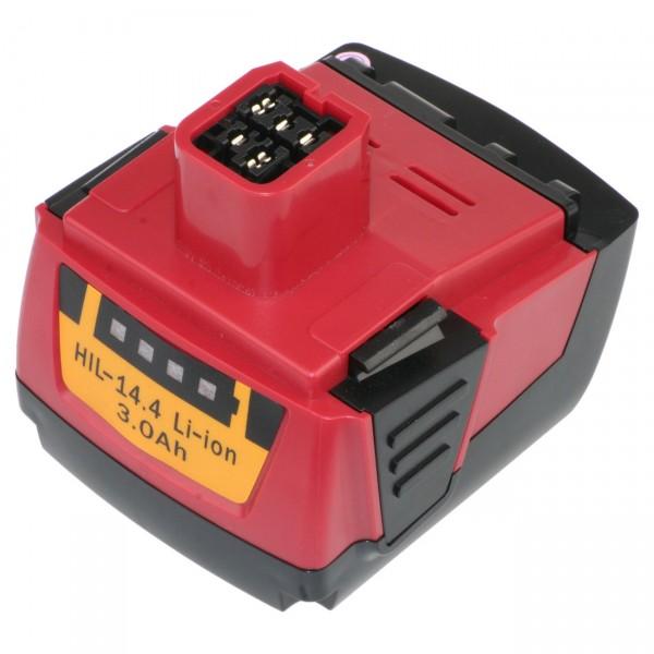 XCell Werkzeugakku für Hilti Li-Ion - 14,4V / 3000mAh - 14,4 Volt - PREMIUM Werkzeugakku