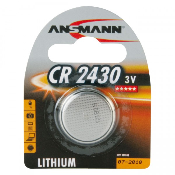 Ansmann Lithium-Knopfzelle CR2430 Lithium 3V / 270mAh