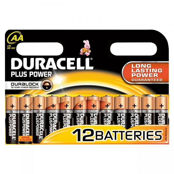 12er Blister Duracell MN1500 Plus Power Mignon 1,5V Alkaline Batterie -1,5 Volt AA