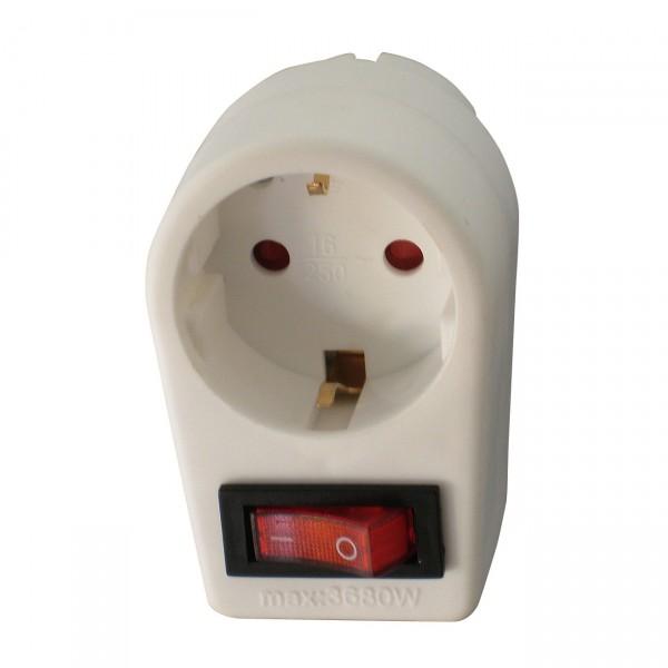 Arcas 1-fach Zwischenstecker mit Schalter (1 x Schukostecker) inkl. Kindersicherung