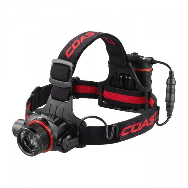 Coast LED Kopflampe HL8 - fokussierbare Stirnlampe / Outdoorleuchte inkl. 4AA Batterien