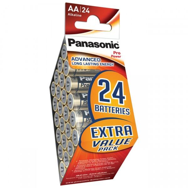 24er Pack Panasonic Pro Power Mignon LR6PPG - 1,5V Alkaline AA Batterien