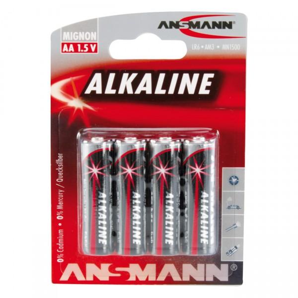 Ansmann LR06 Red Alkaline Mignon Batterie 4er Blister