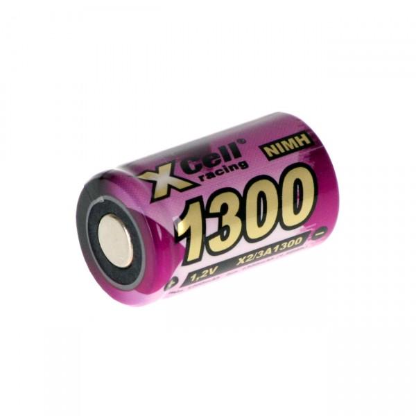 XCell 2/3 A Akku - X2/3A1300 - 1,2V / 1300mAh / NIMH - 1,2 Volt Ni-Mh Hochstromakku