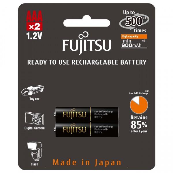 2er Blister Fujitsu X Micro Akku HR4UTHCEU - 1,2V / 900mAh / NIMH - 1,2 Volt AAA Ni-MH