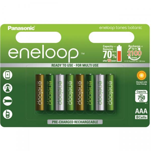 "eneloop Micro Akku BK-4MCCE/8TE Ni-MH 1,2V / 800mAh 8er Blister ""Botanic"""