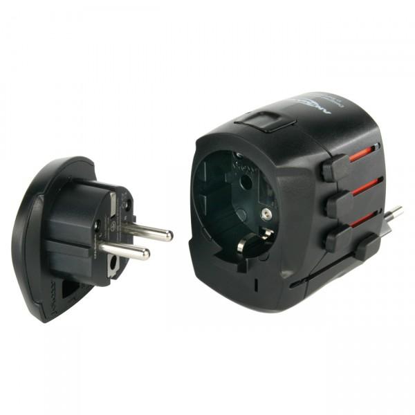 Ansmann All in One Adapter - Universal-Reiseadapter Set für Geräte mit Schutzkl. 1+2