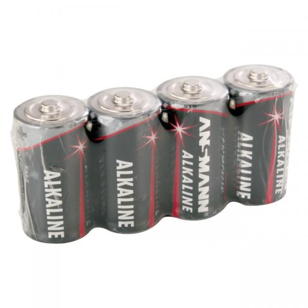 4er Pack Ansmann LR14 Red Alkaline - 1,5V Baby C Batterie
