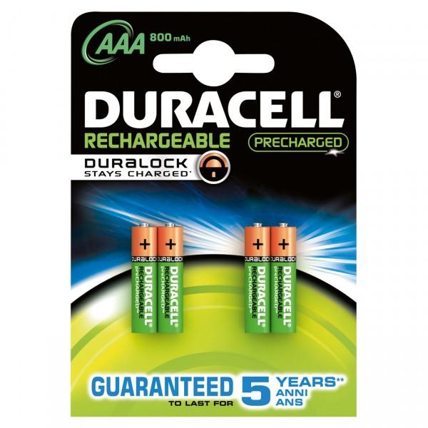 4er Blister Duracell PreCharged Micro Akku - 1,2V / 900mAh / NIMH - 1,2 Volt AAA Ni-MH Akkus