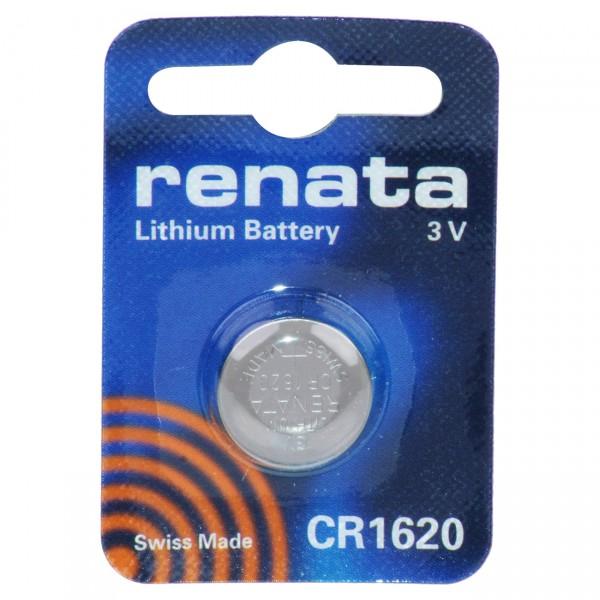 1er Blisterf Renata Lithium-Knopfzelle CR1620 - 3V / 68mAh - 3 Volt Lithium CR 1620 Batterie