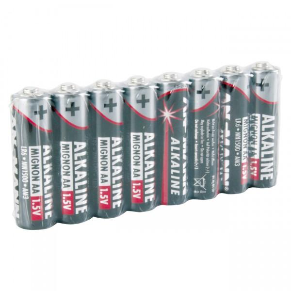 8er Pack Ansmann LR06 Red Alkaline 1,5V Mignon Batterie - 1,5 Volt AA