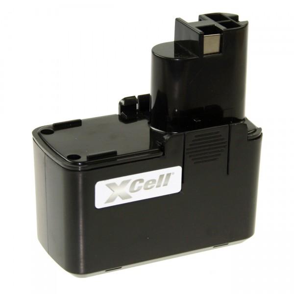 XCell Werkzeug-Akku für Bosch VES-2 - 9,6V / 3000mAh / NIMH L-Form 9,6 Volt PREMIUM Werkzeugakku