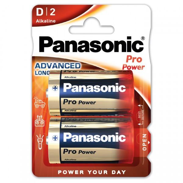 2er Blister - Panasonic Pro Power LR20 Batterie - 1,5V Mono D Alkaline