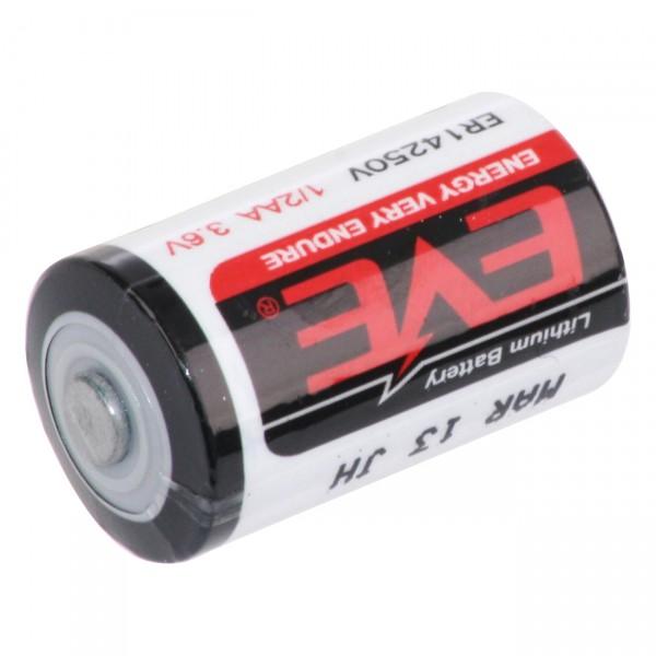 Eve Lithium Batterie 1/2AA Zelle - ER14250V - 3,6V / 1200mAh - 3,6 Volt 1/2 Mignon Batterien