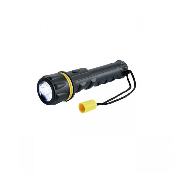 Ring RT5148 LED Gummi - Taschenlampe mit 2 x AA Akkus - Taschenleuchte / Campinglampe / Stablampe